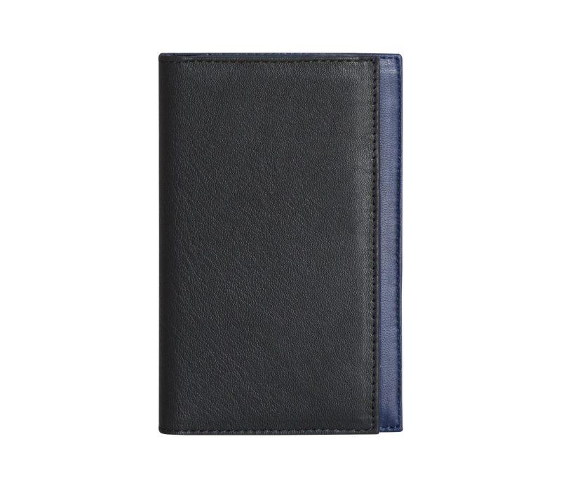 CREAM TYPE 7 wallet in black calfskin leather | TSATSAS
