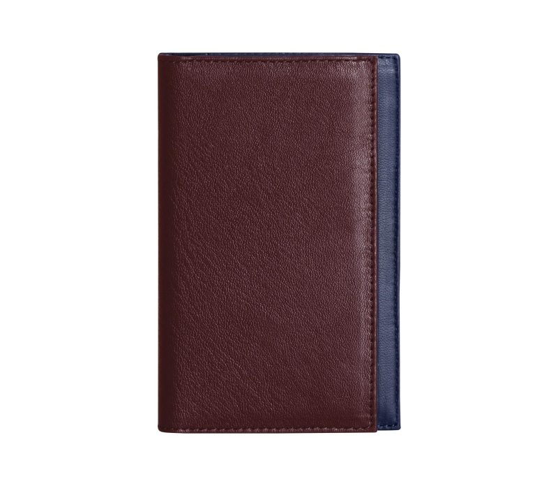 CREAM TYPE 7 wallet in burgundy calfskin leather | TSATSAS