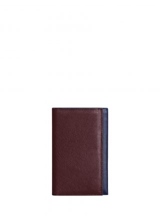 CREAM TYPE 7 wallet in burgundy calfskin leather | TSATSAS