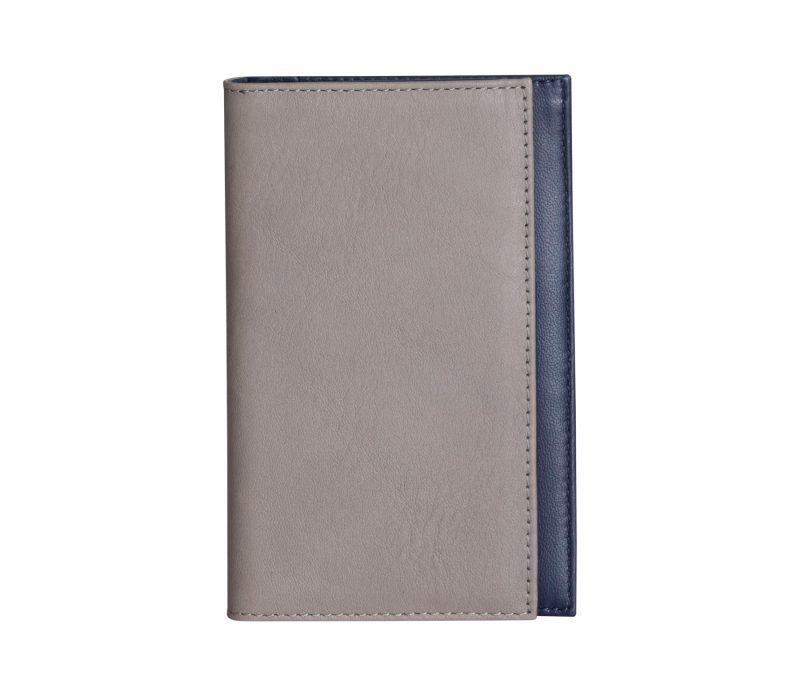 CREAM TYPE 7 wallet in grey calfskin leather | TSATSAS