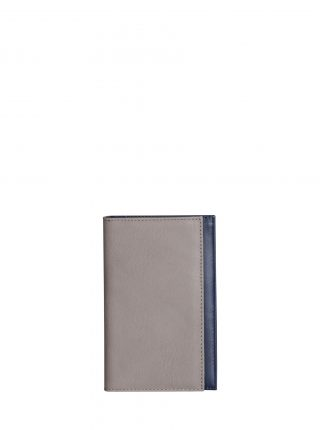 CREAM TYPE 7 wallet in grey calfskin leather | TSATSAS