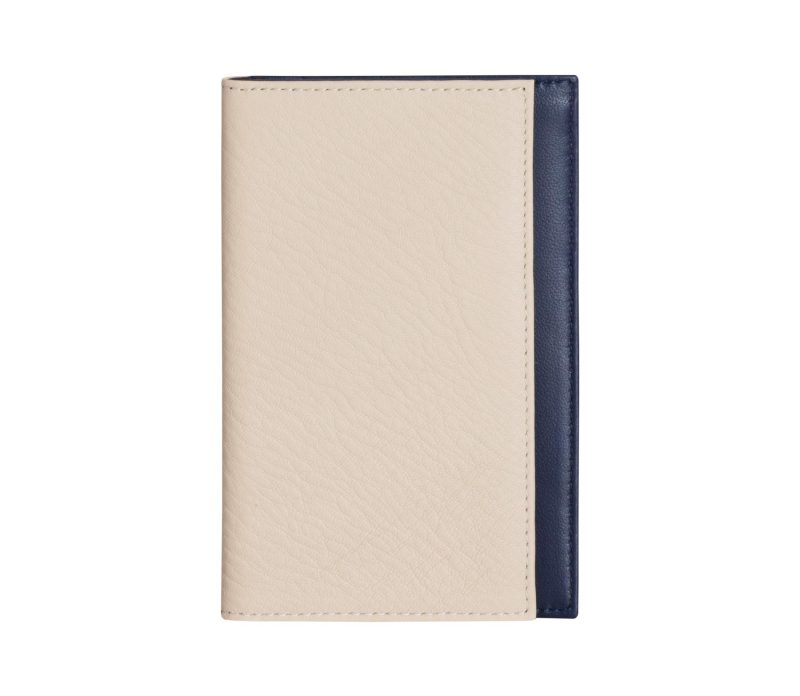 CREAM TYPE 7 wallet in ivory calfskin leather | TSATSAS