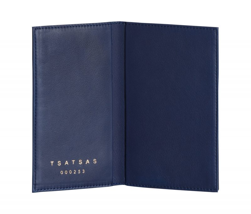CREAM TYPE 8 wallet in pacific blue lamb nappa leather | TSATSAS