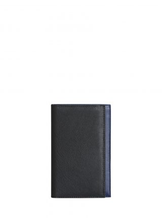 CREAM TYPE 8 wallet in black calfskin leather | TSATSAS