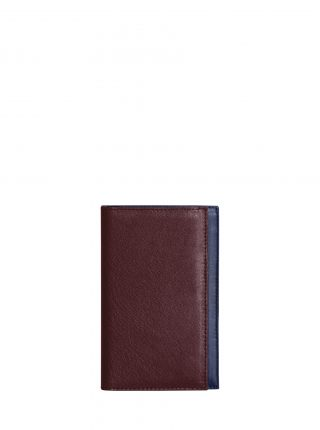 CREAM TYPE 8 wallet in burgundy calfskin leather | TSATSAS