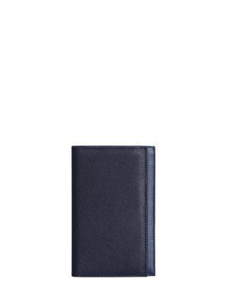 CREAM TYPE 8 wallet in navy calfskin leather | TSATSAS