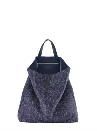 FLUKE SO_FAR tote bag in navy blue | TSATSAS