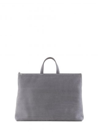LUCID NINETY tote bag in medium grey nubuck leather | TSATSAS