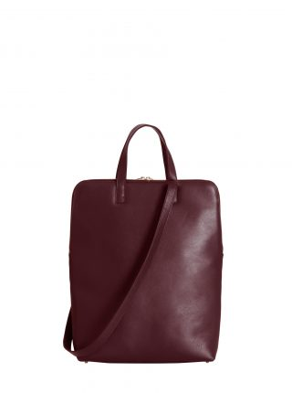 NICHE tote bag in burgundy calfskin leather | TSATSAS