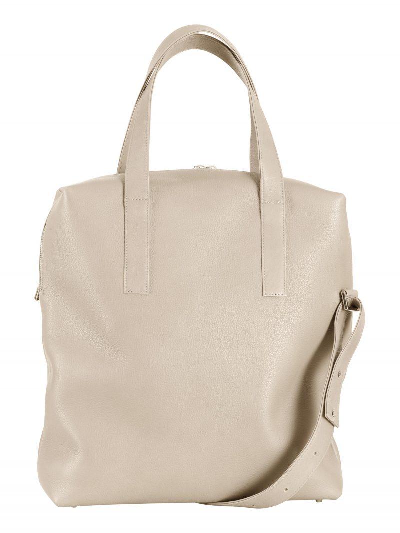 POLLOCK tote bag in ivory calfskin leather   TSATSAS