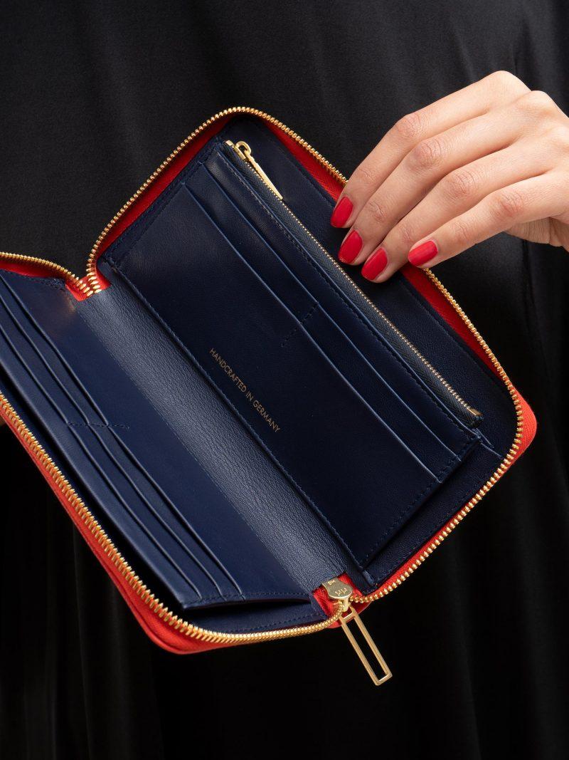 KOBO 2 wallet in bright red calfskin leather | TSATSAS