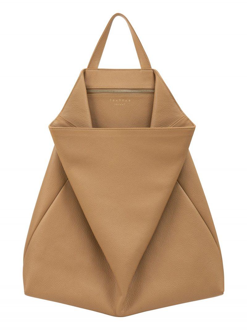 FLUKE tote bag in cashew calfskin leather | TSATSAS