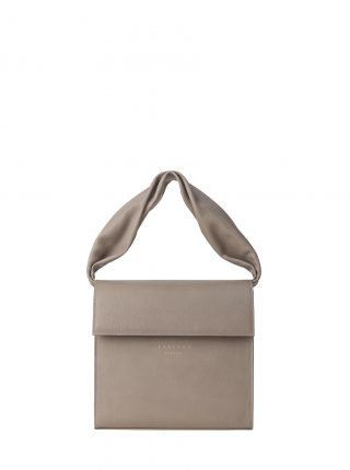 RHEI top handle bag in grey calfskin leather | TSATSAS