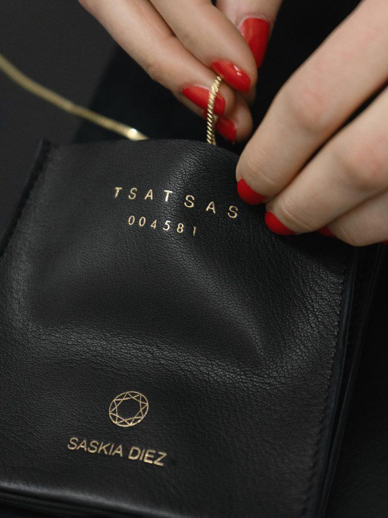 ÉTUI 1 jewellery case in black lamb nappa leather | TSATSAS AND SASKIA DIEZ