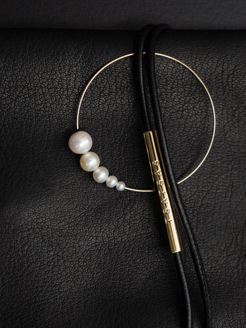 ÉTUI 2 jewellery case in black lamb nappa leather   TSATSAS AND SASKIA DIEZ