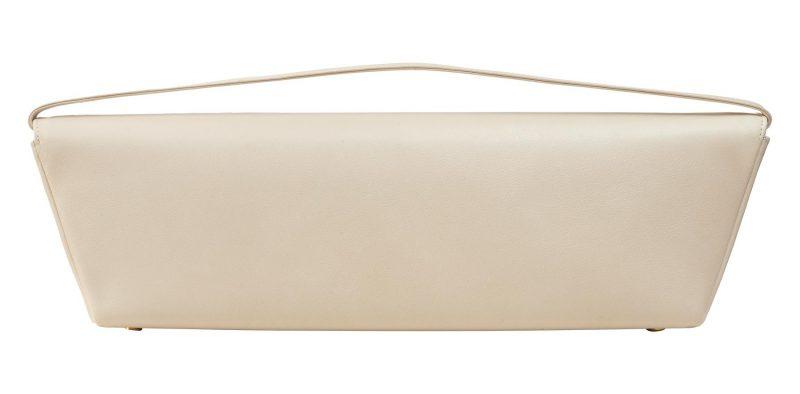 KIRAT shoulder bag in ivory calfskin leather | TSATSAS