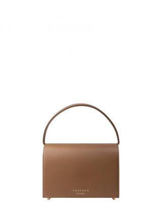 MALVA 4 hand bag in fawn brown smooth calfskin leather | TSATSAS