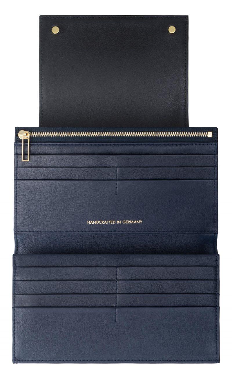 MONO wallet in black calfskin leather | TSATSAS