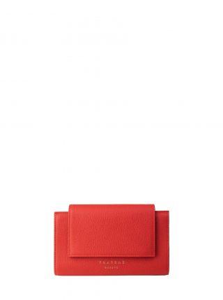 MONO wallet in bright red calfskin leather | TSATSAS