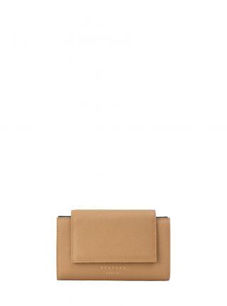 MONO wallet in cashew calfskin leather | TSATSAS