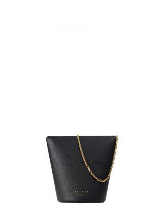 OLIVE shoulder bag in black calfskin leather | TSATSAS