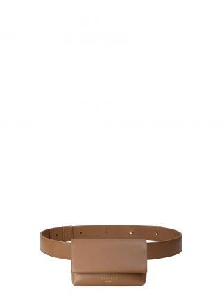 SOMA belt bag in fawn brown calfskin leather | TSATSAS