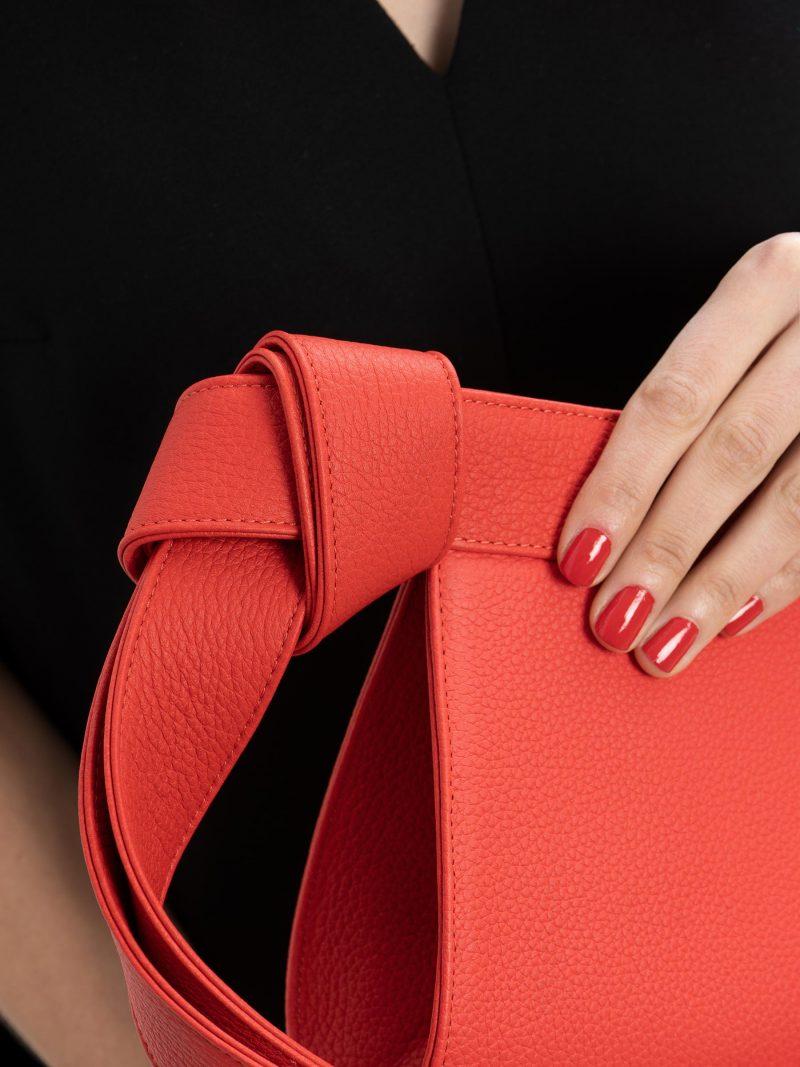 TAPE XS clutch bag in bright red calfskin leather   TSATSAS