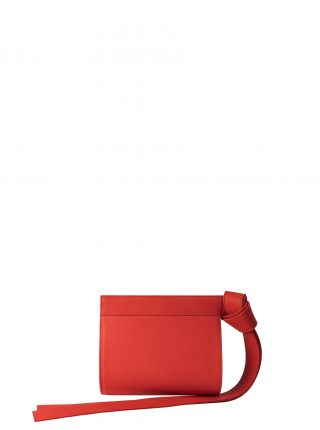 TAPE XS clutch bag in bright red calfskin leather | TSATSAS