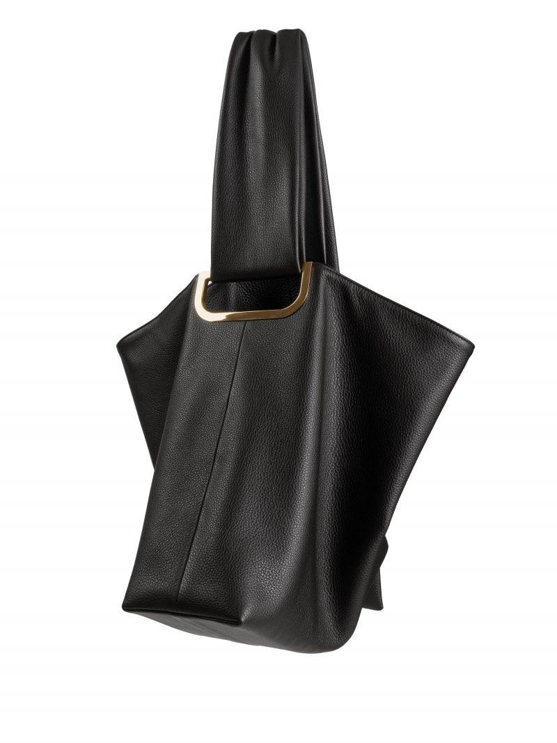 SHIFT shoulder bag in black calfskin leather   TSATSAS