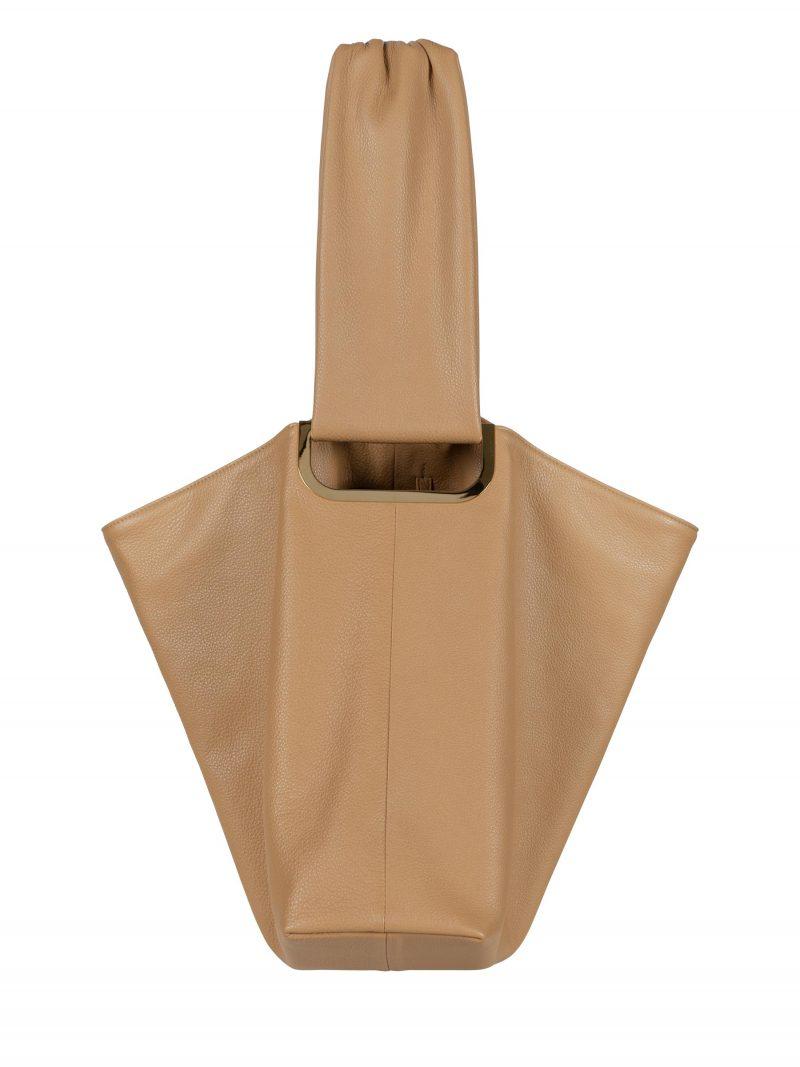 SHIFT shoulder bag in cashew calfskin leather   TSATSAS
